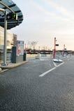 Entrata di parcheggio dell'automobile Fotografie Stock Libere da Diritti