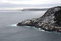 Entrata di porto del ` s di St John di vista dell'angolo alto nell'inverno Fotografia Stock