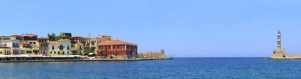 Entrata di porto di Hania Immagini Stock Libere da Diritti