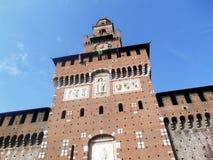 Entrata di Sforza, Milano, Italia Fotografia Stock Libera da Diritti