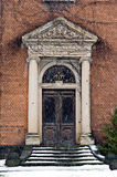 Entrata di un buildig antico Fotografia Stock