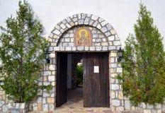 Entrata di un monastero Fotografie Stock Libere da Diritti