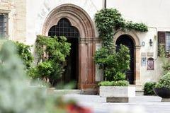 Entrata di una casa in Montefalco Fotografie Stock Libere da Diritti