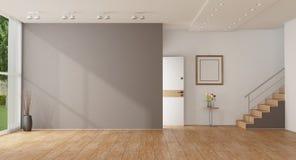 Entrata domestica vuota di una villa moderna fotografie stock libere da diritti
