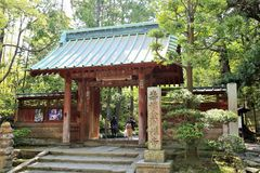 Entrata giapponese del tempio Fotografie Stock