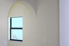 Entrata incurvata con la finestra Immagini Stock Libere da Diritti