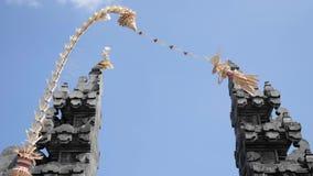 Entrata indonesiana 4k lento del tempio archivi video