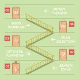 Entrata Infographic Immagine Stock