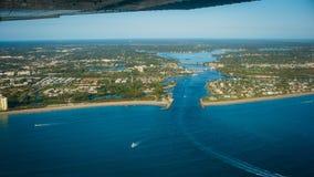 Entrata l'Oceano Atlantico Florida del faro di Giove immagini stock