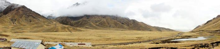 Entrata a La Raya e Pukara, Puno, Perù Immagine Stock Libera da Diritti