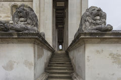 Entrata laterale del museo di Fitzwilliam Fotografia Stock Libera da Diritti