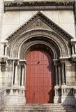 Entrata laterale della basilica del cuore sacro di Parigi (1914 Fotografia Stock