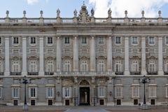 Entrata laterale di Palacio reale Fotografie Stock Libere da Diritti