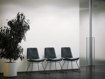 Entrata luminosa dell'ufficio con rifugio rappresentazione 3d Fotografia Stock
