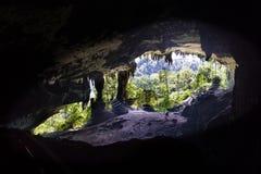 Entrata maestosa della camera della caverna di grande al parco nazionale di Mulu, Sara immagini stock