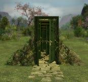 Entrata magica della porta nell'infinito Fotografie Stock Libere da Diritti