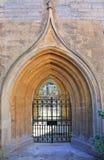 Entrata medievale della chiesa Immagini Stock