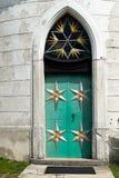 Entrata medievale della chiesa del ferro Fotografie Stock Libere da Diritti