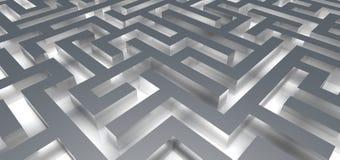 Entrata nel labirinto di incandescenza Fotografie Stock Libere da Diritti