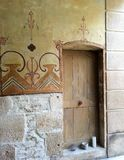 Entrata in parete di pietra, Francia Immagine Stock Libera da Diritti