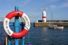 Entrata per port St Mary, Isola di Man Fotografie Stock Libere da Diritti