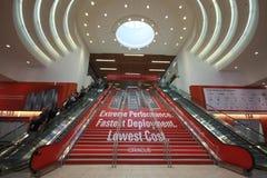 Entrata principale al congresso del Oracle OpenWorld Fotografia Stock Libera da Diritti