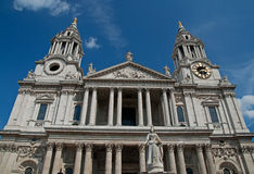 Entrata principale alla cattedrale della st Pauls Fotografie Stock Libere da Diritti