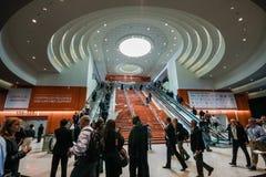 Entrata principale alla conferenza di Oracle OpenWorld nel centro di convenzione di Moscone Fotografia Stock Libera da Diritti