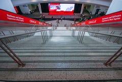 Entrata principale alla conferenza di Oracle OpenWorld nel centro di convenzione di Moscone Immagini Stock