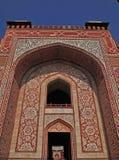 Entrata principale alla tomba del Akbar dell'imperatore, Agra Fotografia Stock Libera da Diritti