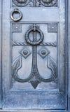 Entrata principale Cancello santo All'entrata alla cattedrale di San Nicola Kronshtadt St Petersburg Federazione Russa immagine stock libera da diritti