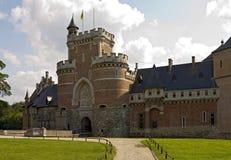 Entrata principale del castello di Gaasbeek fotografia stock libera da diritti