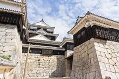 Entrata principale del castello di Matsuyama Immagini Stock