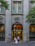 Entrata principale del quartiere generale di UBS a Zurigo Fotografia Stock