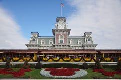 Entrata principale del regno magico di Disney Fotografie Stock Libere da Diritti