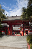 Entrata principale del santuario dell'isola di Aoshima Fotografie Stock Libere da Diritti