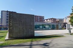 Entrata principale dell'università del corridoio di conferenza di USI, italiana di Svizzera di della di Universita, a Lugano, la  Fotografie Stock