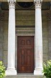 Entrata principale della st Pierre Cathedral della chiesa di Ginevra Immagine Stock