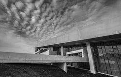Entrata principale di esterno della Danimarca Aarhus del museo di Moesgaard Fotografie Stock