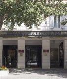 Entrata principale di grande hotel via Veneto a Roma Fotografia Stock Libera da Diritti