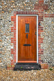 Entrata principale di legno Fotografia Stock Libera da Diritti