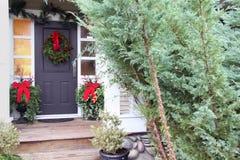Entrata principale di Natale fotografie stock libere da diritti