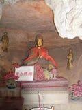 Entrata a Reed Flute Cave Guardian Buddha Guilin il Guangxi Cina Immagini Stock Libere da Diritti