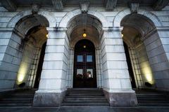 Entrata a Rhode Island State House, nella provvidenza, Rhode I Immagini Stock Libere da Diritti