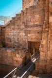 Entrata a Roman Circus antico di Tarraco a Tarragona, Spagna immagine stock libera da diritti