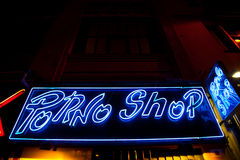 Entrata sexy del negozio Immagine Stock