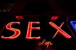 Entrata sexy del negozio Immagini Stock Libere da Diritti
