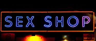 Entrata sexy del negozio Fotografia Stock Libera da Diritti