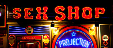 Entrata sexy del negozio Fotografie Stock Libere da Diritti