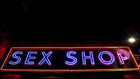 Entrata sexy del negozio Immagini Stock